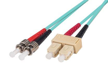 Picture of DYNAMIX 1M 50u SC/ST OM3 Fibre Lead (Duplex, Multimode)