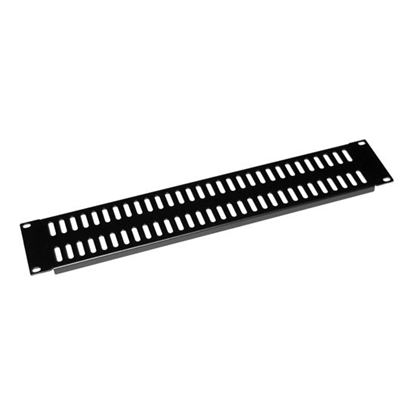 Picture of DYNAMIX AV Rack 2RU metal blanking panel with vented holes, with