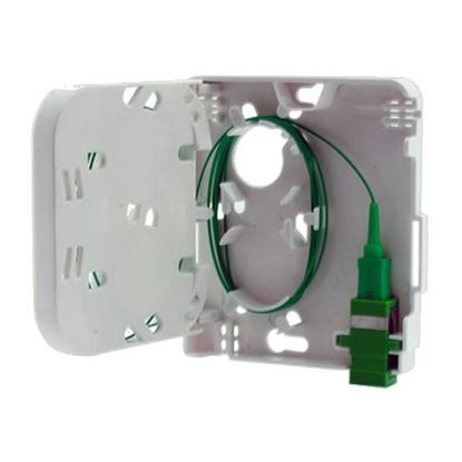 Picture of DYNAMIX FTTH Compact Wall Outlet 1 Port SC Simplex / LC Duplex