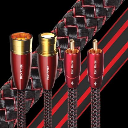 Picture of AUDIOQUEST Red River 1M  2 to 2 RCA male. Solid perf surface copper