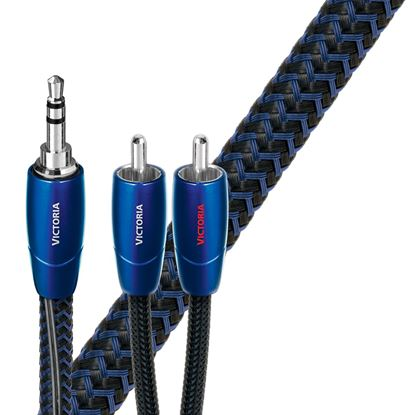 Picture of AUDIOQUEST Victoria 1M 3.5mm to 2 RCA. Solid perfect-surface