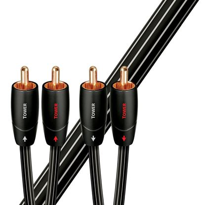 Picture of AUDIOQUEST Tower 1M 2 to 2 RCA Male. Solid Long Grain Copper