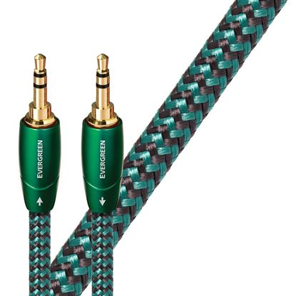 Picture of AUDIOQUEST Evergreen 5M 3.5mm M to 3.5mm M. Solid Long Grain Copper.