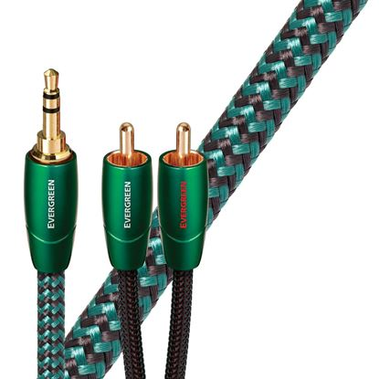 Picture of AUDIOQUEST Evergreen 1M 3.5mm to 2 RCA. Solid Long Grain Copper