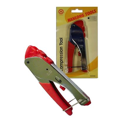 Picture of HANLONG Compression Crimp Tool for RG59/RG6 F/BNC and RCA
