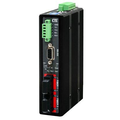 Picture of CTC UNION Serial To Fibre Daisy Chain Media Converter. 30km.