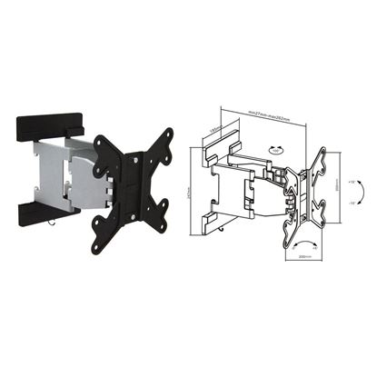 Picture of BRATECK 23'-42' Articulating monitor wall mount bracket.