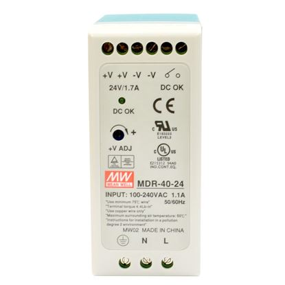 Picture of CTC UNION 24V/40W Din Rail Mount Power Supply with Short circuit,