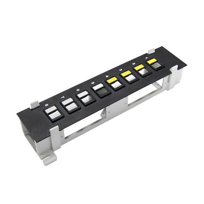 Picture of DYNAMIX Mini 8 Port Unloaded Keystone Patch Panel