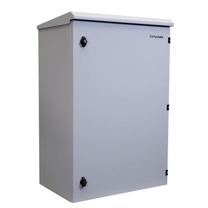 Picture of DYNAMIX 18RU Outdoor Wall Mount Cabinet. External Dims 611x425x915