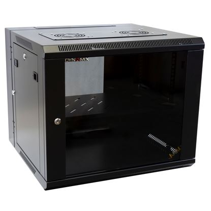Picture of DYNAMIX 9RU Universal Swing Wall Mount Cabinet. Removable Back mount