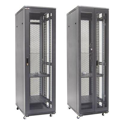 Picture of DYNAMIX 42RU Server Cabinet 1000mm Deep Front Mesh Door, Rear mesh