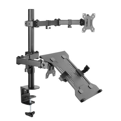 Picture of BRATECK Universal Adjustable Laptop & Monitor Holder Desk Stand.