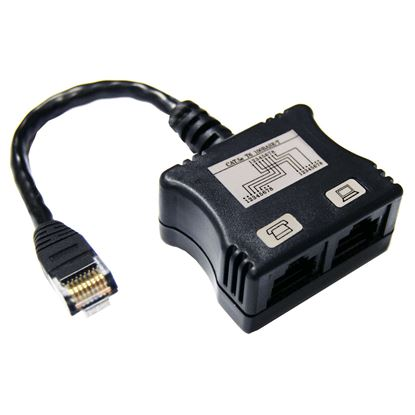Picture of DYNAMIX RJ45 Dual Adapter (1x Digital Ph. and 1 x UTP) with