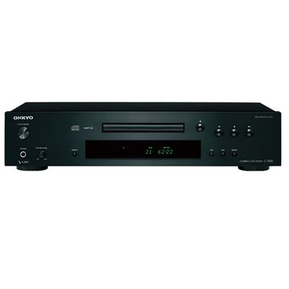 Picture of ONKYO Stunning Fidelity CD Player. Vector linear shaping circuitry.
