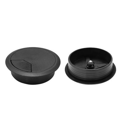 Picture of DYNAMIX 80mm Round Desk Grommet. Easily & Neatly Store your Power,
