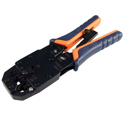 Picture of HANLONG RJ45/RJ12/RJ11R RJ14/DEC Modular Crimping Tool.