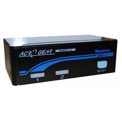 Picture of REXTRON 1-2 Automatic DVI USB KVM Switch.