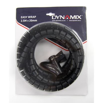 Picture of DYNAMIX 2.5mx20mm Easy Wrap - Cable Management Solution, Blister