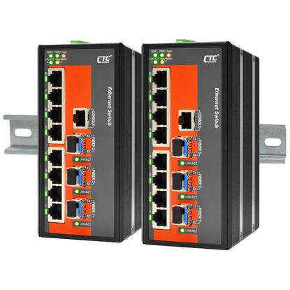 Picture of CTC UNION 8 Port Fast Ethernet Managed Switch. -40C~+75C.