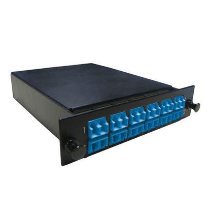Picture of DYNAMIX MPO SM 12 Port LC Duplex Single-mode 24 Fibre Cassette.