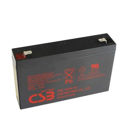 Picture of CSB 6V 34W Replacement Battery. Suites 5P Rackmounts.