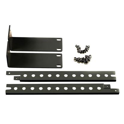 Picture of REXTRON 19' Rackmount Kit for 4 Port KVM Switch. BLACK Colour.