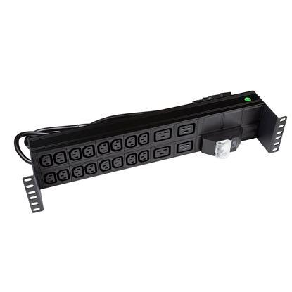 Picture of DYNAMIX 20 Outlet Horizontal Power Rail  (16x 10A IEC C13 & 4x 16A IEC