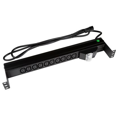 Picture of DYNAMIX 10 Outlet Horizontal Power Rail (10A IEC C13) with 6KA