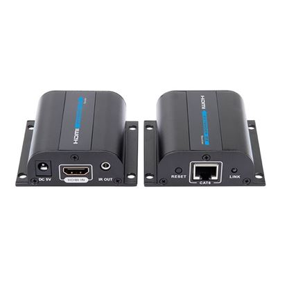 Picture of LENKENG HDMI & IR Extender Kit over Single Cat6. 1080p up to 50m.