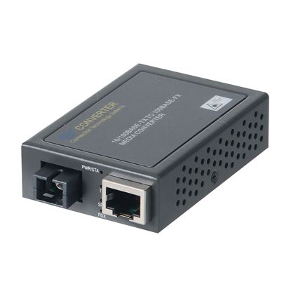 Picture of CTS 10/100 to SC Single-Mode WDM Converter. RX: 1310nm, TX: 1550nm.