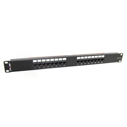 Picture of DYNAMIX 16 Port 19' Cat5e UTP Patch Panel, T568A & T568B