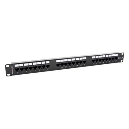 Picture of DYNAMIX 24 Port 19' Cat5e UTP Patch Panel, T568A & T568B