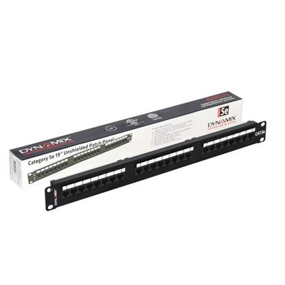 Picture of DYNAMIX 24 Port 19' Cat5e UTP Patch Panel with plastic