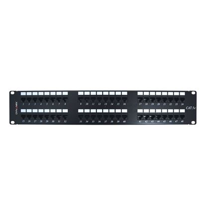 Picture of DYNAMIX 48 Port 19' Cat5e UTP Patch Panel, T568A & T568B