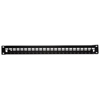 Picture of DYNAMIX Cat6A 180 Unshielded Keystone patch panel,  24 Port