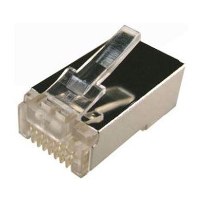 Picture of DYNAMIX Cat6 RJ45 20pc Bag, 8P8C Modular Plug 15U' with insert.