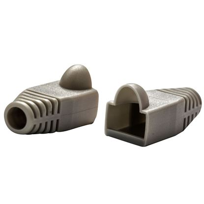 Picture of DYNAMIX GREY RJ45 Strain Relief Boot (6.0mm Outside Diameter). 20pk