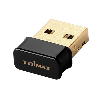Picture of EDIMAX N150 Wi-Fi 4 Nano USB Adapter. Wireless 802.11b/g/n.