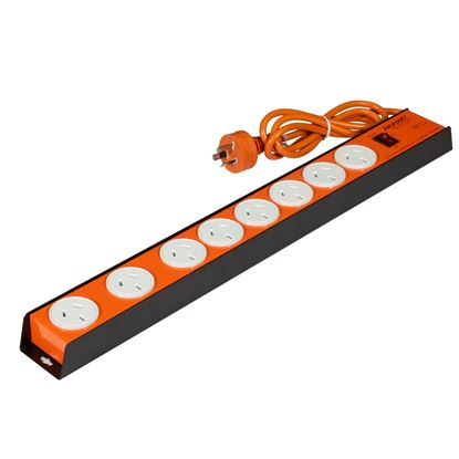 Picture of JACKSON 8 Outlet Powerboard with Heavy Duty Metal Housing, Surge