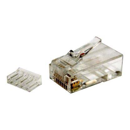 Picture of DYNAMIX Cat6 RJ45 Plug 20pc Bag, 8P8C 2 Piece Modular Plug (Rounded