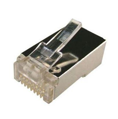 Picture of DYNAMIX RJ45 Plug 100pc Jar, 8P8C Internal Ground Shielded