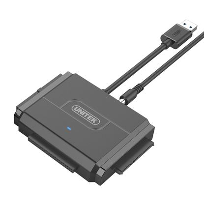 Picture of UNITEK USB 3.0 to IDE + SATA II Converter. Supports any Capacity