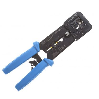 Picture of PLATINUM TOOLS EZ-RJPRO Crimp Tool. Easy install crimp tool for