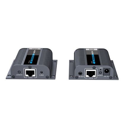 Picture of LENKENG HDMI & IR Extender Kit over Cat6 with EDID switch. Local HDMI