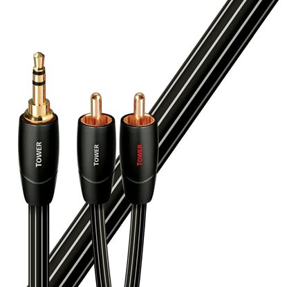Picture of AUDIOQUEST Tower 1M 3.5mm to 2 RCA. Solid Long Grain Copper.
