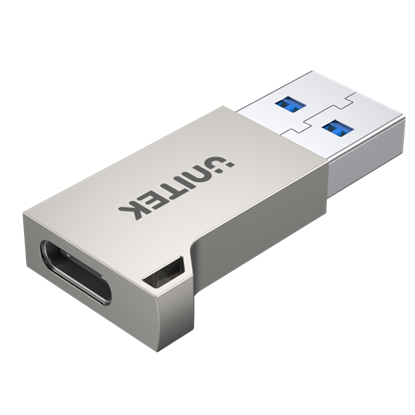 Picture of UNITEK USB3.0 Type-A Male to Type-C Female Ultra-Tiny Adaptor. Supports