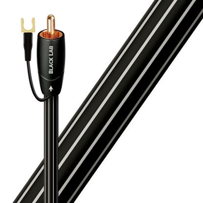 Picture of AUDIOQUEST Black lab 8M subwoofer cable. Long grain copper (LGC)