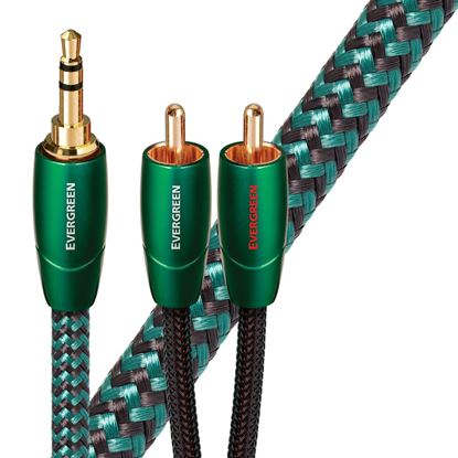 Picture of AUDIOQUEST Evergreen 5M 3.5mm to 2 RCA. Solid Long Grain Copper