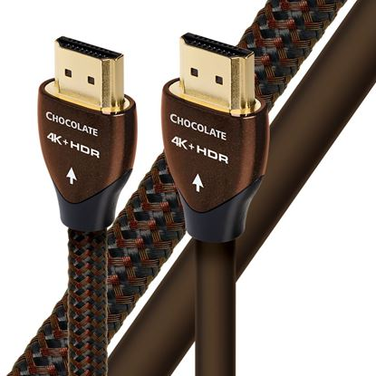 Picture of AUDIOQUEST Chocolate .6M HDMI Cable 2.5% silver. Solid conductors